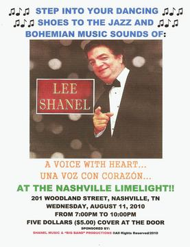 LEE SHANEL & HIS ORCHESTRA! -- LIVE AT THE NASHVILLE LIMELIGHT, by LEE SHANEL on OurStage