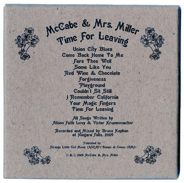 Fare Thee Well, Adios & Goodbye, by McCabe & Mrs. Miller on OurStage
