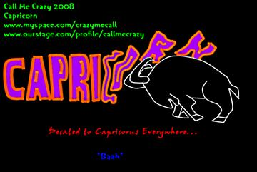 Capricorn, by Call Me Crazy on OurStage
