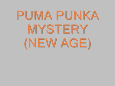 Puma Punka Mystery, by Steve Dafoe-SongWriter on OurStage