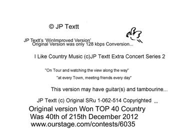 I Like Country Music©JP Textt 'WinImproved Version', by JP Textt© on OurStage