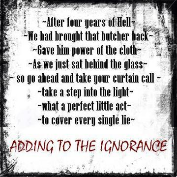 Adding to the Ignorance, by Seventh Sorrow on OurStage