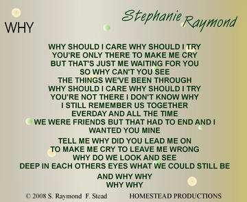 Why, by Stephanie Raymond on OurStage