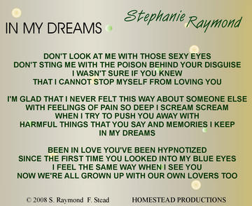 In My Dreams, by Stephanie Raymond on OurStage