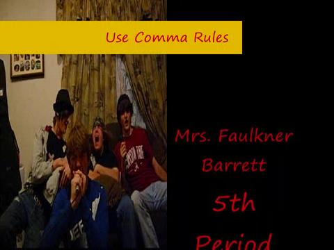 Use Comma Rules, by antmantkant (and friends) on OurStage