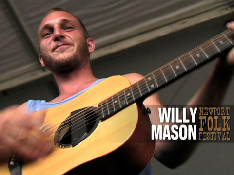 Willy Mason braves the rain at Newport Folk, by OurStage Productions on OurStage