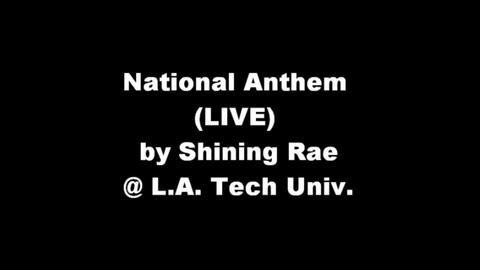 National Anthem (Live), by Shining Rae on OurStage