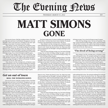 Gone, by Matt Simons on OurStage