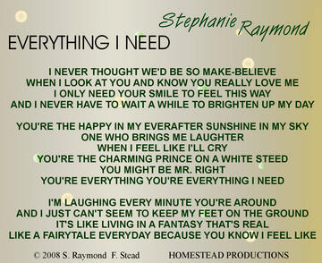 Everything I Need, by Stephanie Raymond on OurStage