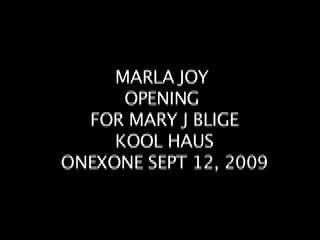 Marla Joy Opening For Mary J Blige At OnexOne, by Marla Joy on OurStage