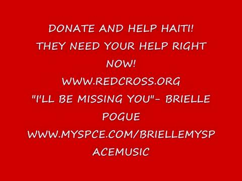 """HAITI- """"I'LL BE MISSING YOU""""- BRIELLE POGUE, by BRIELLE POGUE on OurStage"""
