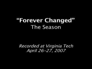 Forever Changed, by The Season on OurStage