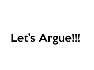 Let's Argue!!!, by Manhotness on OurStage