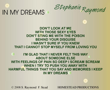In My Dreams (demo), by Stephanie Raymond on OurStage