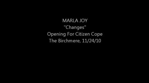 """Marla Joy """"changes"""" Opening For Citizen Cope, by Marla Joy on OurStage"""