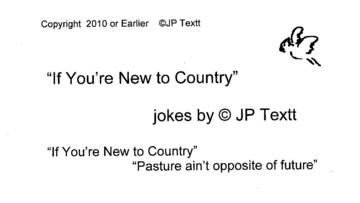 If You're New to Country (c)JP Textt short version, by JP Textt on OurStage