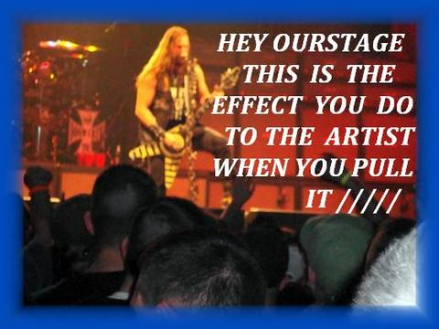 OURSTAGE PULLED IT, by GARDIAN ANGLE AND ARTIST THAT GET THER WORK PULLED WITH NO NOTICE OR REASON on OurStage