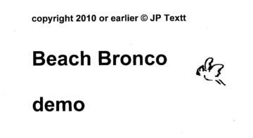 Beach Bronco demo by (c)JP Textt, by JP Textt on OurStage
