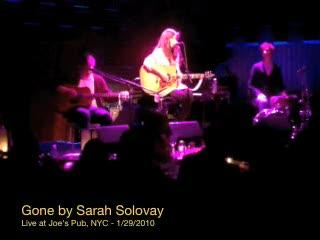 """Gone"" by Sarah Solovay, Live at Joe's Pub, NYC Jan. 29, 2010, by Sarah Solovay on OurStage"