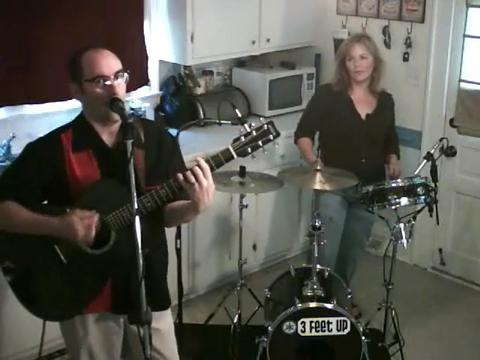 """trash day"" live in our kitchen!, by 3 feet up on OurStage"