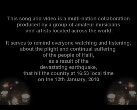 Bleeding Hearts - Song for Haiti, by Multi-National Collaboration of Amateur Musicians on OurStage