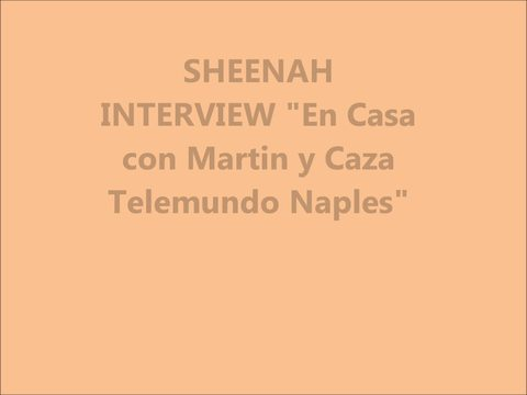 "Sheenah invited to the television program ""En Casa con Martin y Caza Telemundo, by SHEENAH on OurStage"