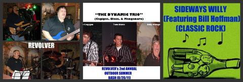 (PART 1, THE VIDEO) REVOLVER's 2nd ANNUAL OUTDOOR SUMMER BASH (8/20/11), by REVOLVER, THE DYNAMIC TRIO, BILL HOFFMAN & SIDEWAYS WILLY on OurStage